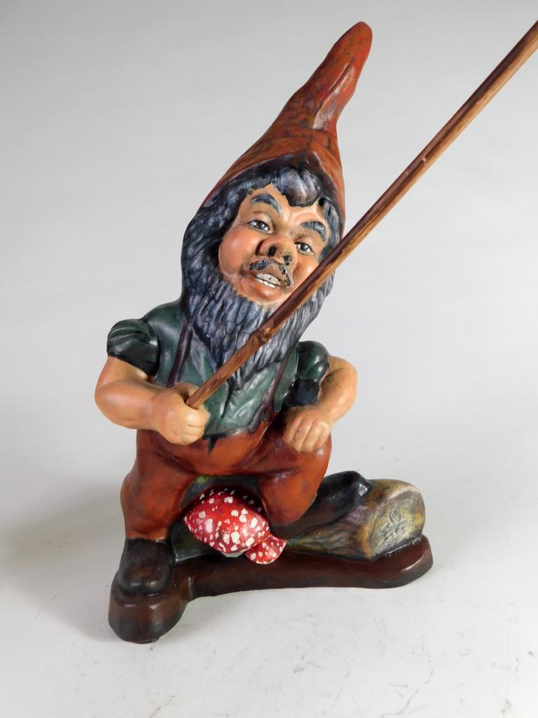 Details about Very Rare Original German Garden Gnome - 38 cm ~1920